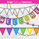 Printable Classroom Banners {Bright Calico Classroom}