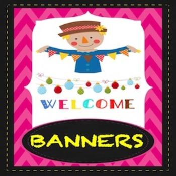 Classroom Banner: Scarecrow Theme
