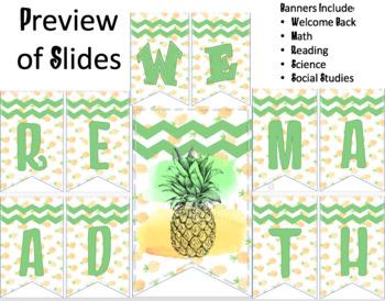 Classroom Banners (editable)