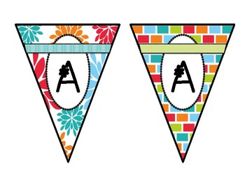 Classroom Banners- w/ Orange, Lt. Blue, Lt. Green, Turquoise, Pink