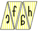 Classroom Banners (yellow and white stripes)