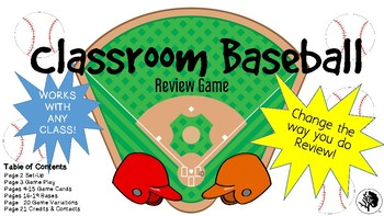 Classroom Baseball Review Game- ANY SUBJECT!