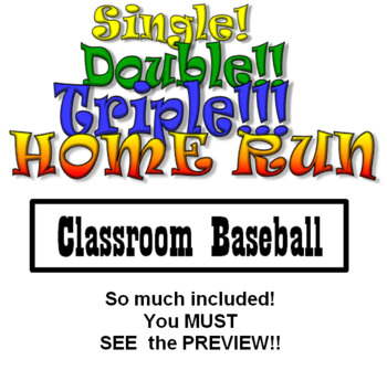 Classroom Baseball Game - PLUS Lots of extras!