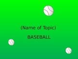 Classroom Baseball Game Template