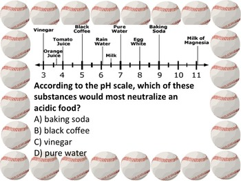 Classroom Baseball Review Game Matter & Chemistry