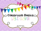 Classroom Basics: Bright Chevron