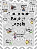 Classroom Basket Labels