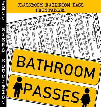 Classroom Bathroom Pass Printable [Editable Version] / Classroom Management Tool