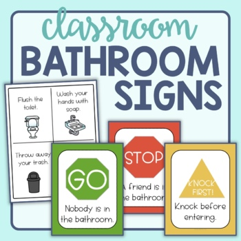 classroom bathroom signs stop go 12 options by With bathroom signs for classroom