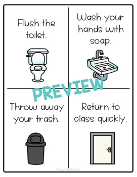 Classroom Bathroom Signs - Stop / Go, 12 Options! by ...