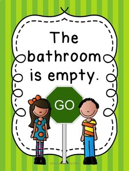 Classroom Bathroom Signs - Stop / Go, 12 Options!