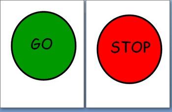 Classroom Bathroom Stop/Go Sign