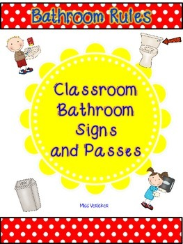 Classroom Bathroom and Hallways Signs and Passes Decor Pack