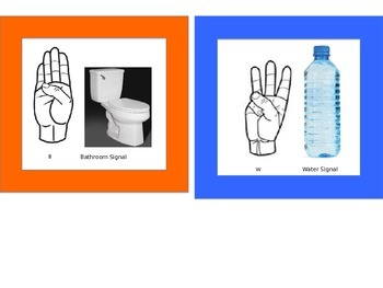 Classroom Bathroom and Water Visual Sign