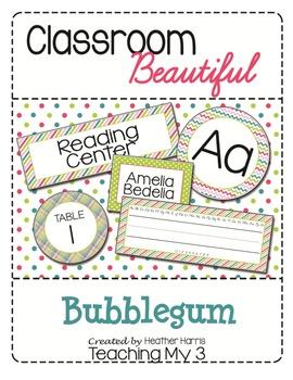 Classroom Beautiful: Bubblegum Colors