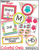 Classroom Beautiful: Colorful Owls {editable}