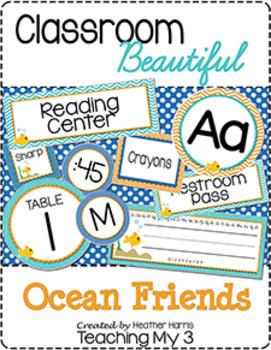Classroom Beautiful: Ocean Friends {editable}