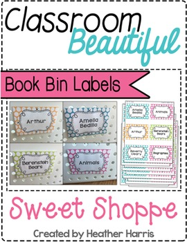 Classroom Beautiful: Sweet Shoppe BOOK BIN LABELS