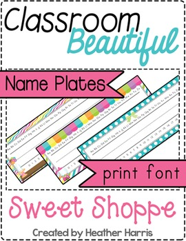 Classroom Beautiful: Sweet Shoppe PRINT Name Plates