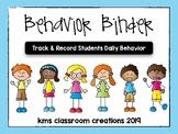 Classroom Behavior Binder