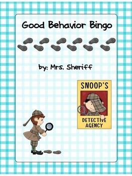 Classroom Behavior Bingo - Detective Theme {EDITABLE}