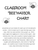 "Classroom Behavior Chart: ""Bee""ing Good"