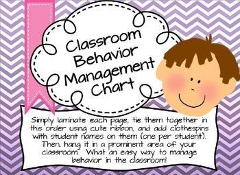 Classroom Behavior Chart (Chevrons) - Easy Classroom Management!