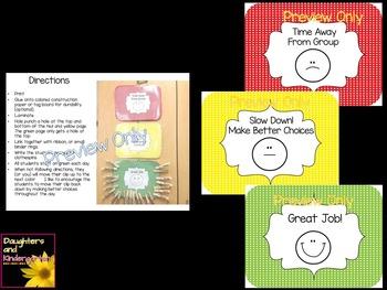 Classroom Behavior Clip Chart ~ Color Coded