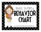 Classroom Behavior Chart Music Kids