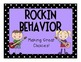 Classroom Behavior Chart Music Kids