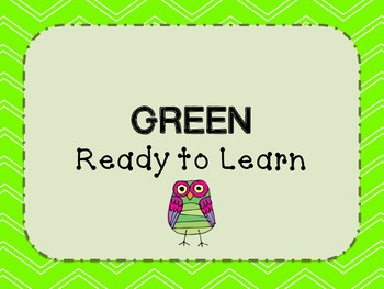 Classroom Behavior Chart- Owls and Chevron