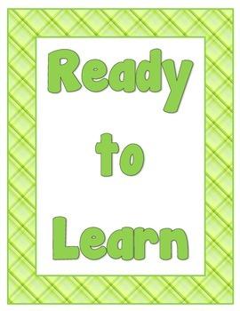 Classroom Behavior Chart - Plaid Theme