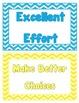 Classroom Behavior Chart - Stitched Chevron Theme