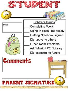 Classroom Behavior Charts