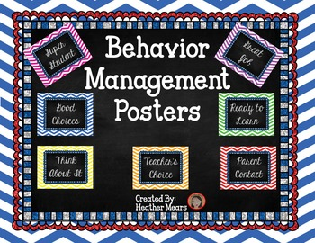 Classroom Behavior Charts Chevron