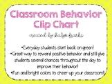 Classroom Behavior Clip Chart