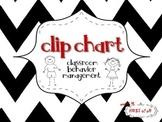Classroom Behavior Clip Chart {Chevron}