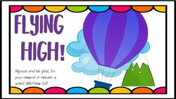 Classroom Behavior Clip Chart Hot Air Balloon Style With Bible Verses
