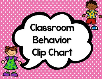 Classroom Behavior Clip Chart-Polka Dots