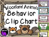 Classroom Behavior Clip Chart - Woodland Animals Theme