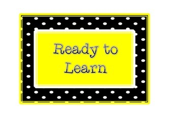 Classroom Behavior Clip Chart Yellow Version