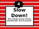 Classroom Behavior Clip Poster (Colored)-EDITABLE