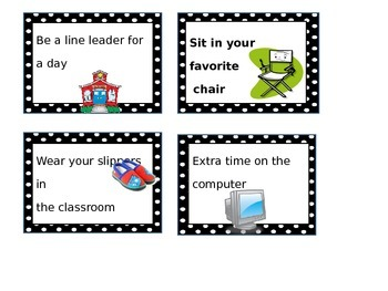 Classroom Behavior Coupons