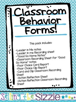 Classroom Behavior Forms