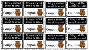 Classroom Behavior Incentive Menu & Coupons