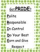 Classroom Behavior Management Acronym Posters:  Got PRIDE?