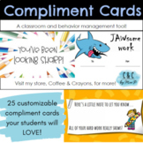 Classroom & Behavior Management COMPLIMENT CARDS, shout-outs, notes to students!