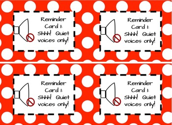 Classroom Behavior Management Cards