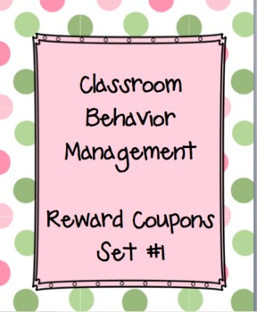 Teacher coupons from principal teaching resources teachers pay classroom behavior management reward coupons set 1 fandeluxe Choice Image
