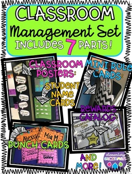 Classroom Behavior Management System {Reward and Consequence Cards Included!}